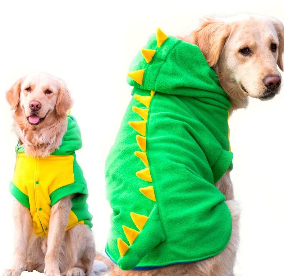 Fladorepet Funny Halloween Big Large Dog Dinosaur Costume