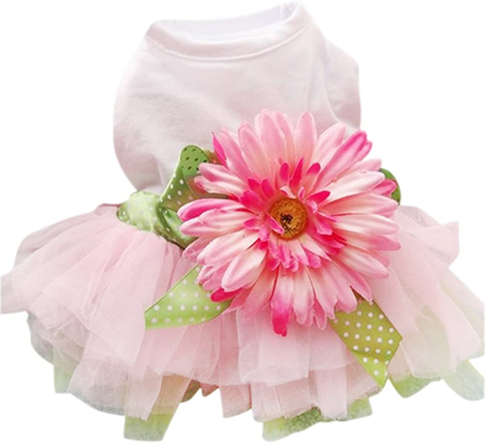 Sanwood Daisy Flower Gauze Tutu Dress
