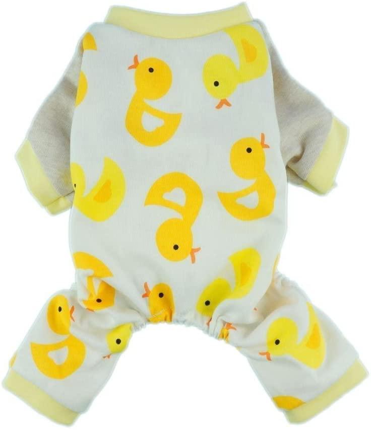 Fitwarm Cute Duck Dog Pajamas Dog Clothes