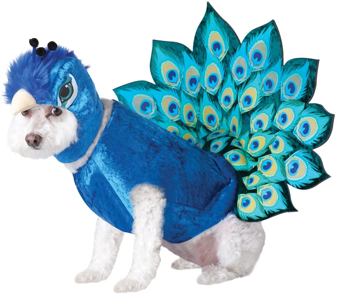 Multi-Peacock Dog Costume
