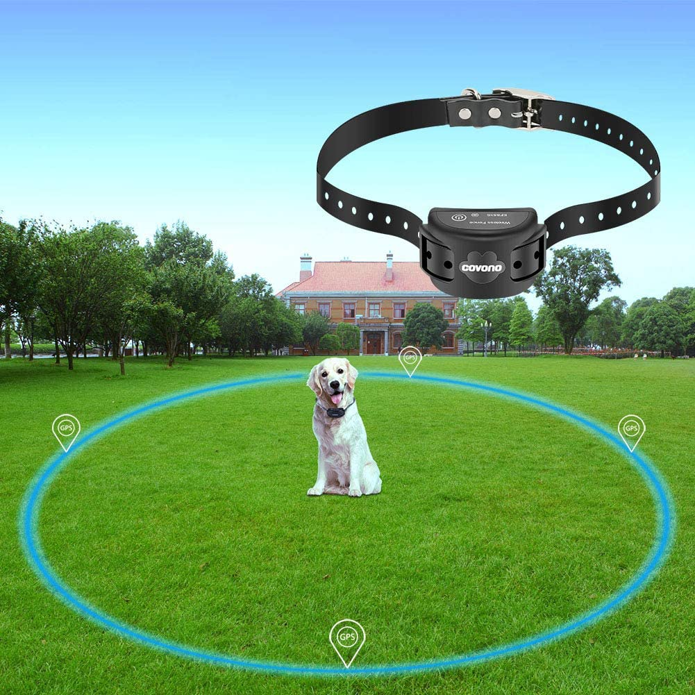 COVONO Wireless Electric Dog Fence with GPS Dog Containment System