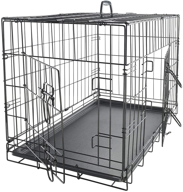 Paws & Pals Double-Door Folding Metal Dog Crate