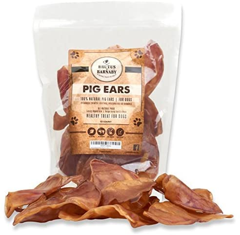 Brutus & Barnaby Pig Ears for Dogs, Large