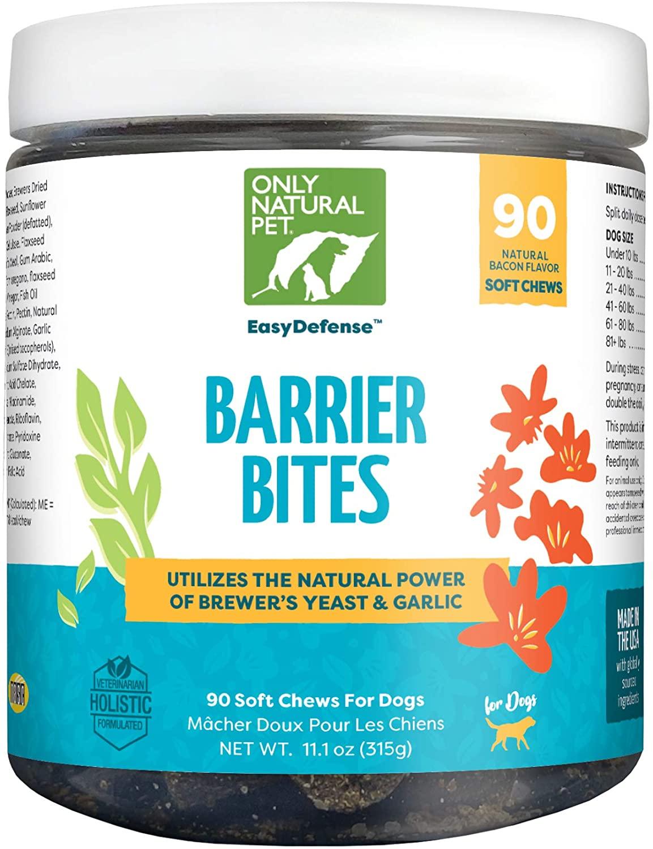 Only Natural Pet EasyDefense Barrier Bites Soft Flea Chews for Dogs