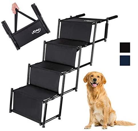 Niubya Folding Car Dog Steps Stairs