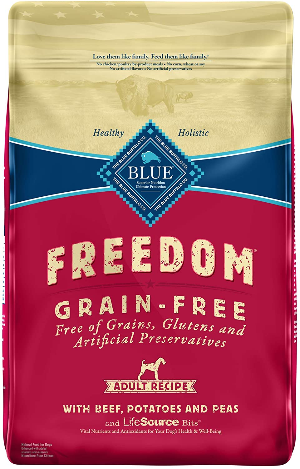 Blue Buffalo Freedom Adult Beef Recipe Grain-Free Dry Dog Food