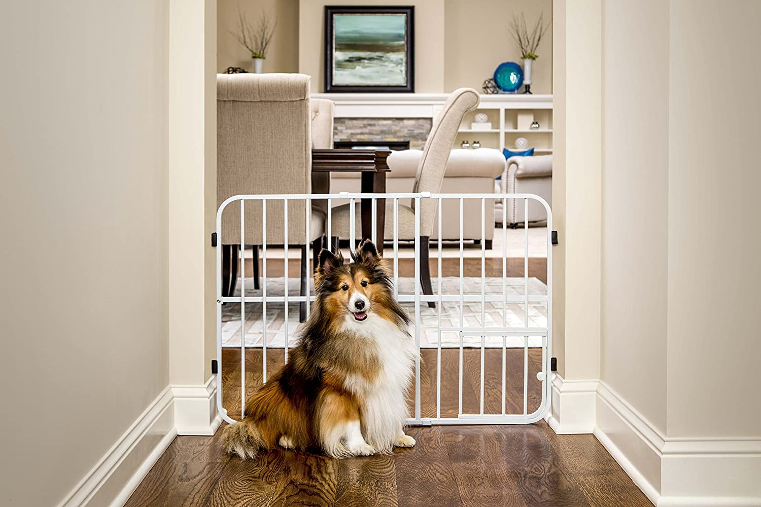 Carlson Pet Products Tuffy Metal Expandable Pet Gate